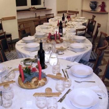 Sala da pranzo, Natale